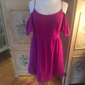 Kensie magenta crochet dress